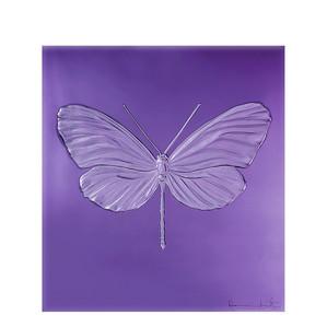 """Декоративная панель """"Стрекоза - пурпурный"""" 42см"""