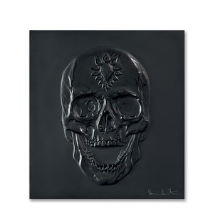 """Декоративная панель """"Череп - черный"""" 42см"""