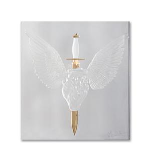 """Декоративная панель """"Сердце, пронзенное кинжалом - золотой"""" 42см"""