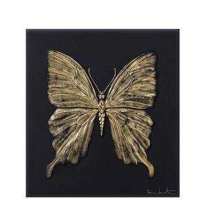 """Декоративная панель """"Бабочка - черный, золотой"""" 42см"""