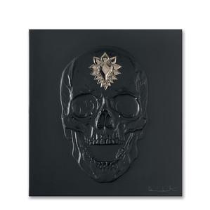 """Декоративная панель """"Череп - черный, платиновый"""" 42см"""