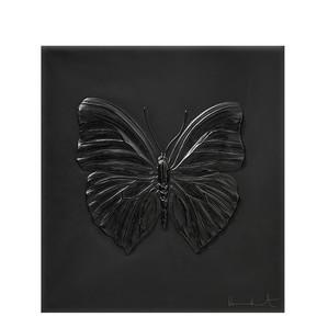 """Декоративная панель """"Бабочка - черный"""" 42см"""