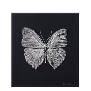 """Декоративная панель """"Бабочка - черный, платиновый"""" 42см"""