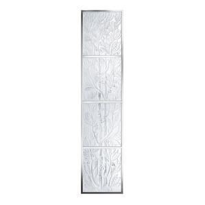 Декоративная панель зеркальная (с рамой), 4шт. 180x40см