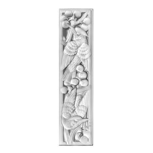 Декоративная панель зеркальная (правая сторона) 52,2x13см