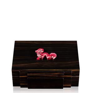 """Хьюмидор для сигар """"Эбеновое дерево, красный"""" 30см"""