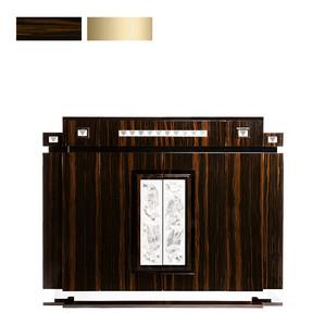 """Комод барный с боковым ящиком """"Эбеновое дерево, сатинированная золочением сталь"""" 146x56x118см"""