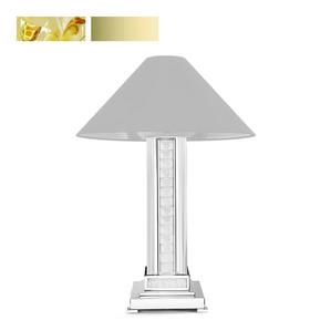 """Настольная лампа без абажура """"Сатинированное золочение, золотистый хрусталь"""" 30x30x65см"""