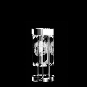 """Настольная лампа (6 Призмы - круглый) """"Никелированный"""" 22x45см"""