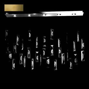 """Подвесная лампа (32 призмы) """"Бронзовый"""" 207x25см"""