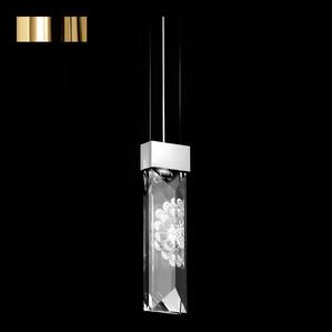 """Подвесная лампа (2 призмы) """"Позолоченный"""" 8x33см"""