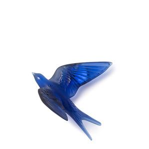 """Статуэтка настенная с магнитом """"Ласточка, крылья вверх - сапфировый синий"""" 15,3см"""