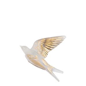 """Статуэтка настенная с магнитом """"Ласточка, крылья вверх - золотое покрытие"""" 15,3см"""