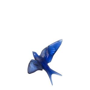 """Статуэтка настенная с магнитом """"Ласточка - сапфировый синий"""" 15см"""