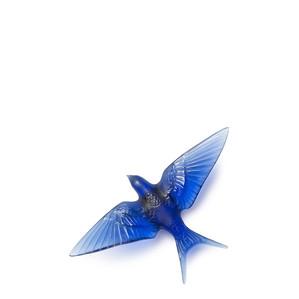 """Статуэтка настенная с магнитом """"Ласточка, крылья вниз - сапфировый синий"""" 15см"""