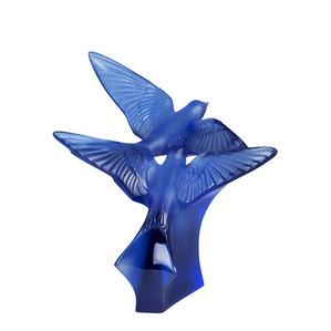 """Статуэтка """"2 Ласточки - сапфировый синий"""" 36,5см"""