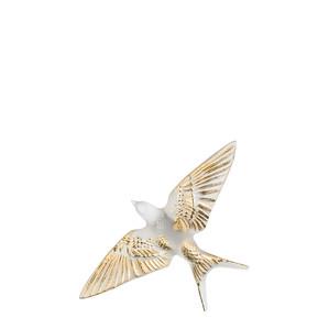 """Статуэтка настенная с магнитом """"Ласточка, крылья вниз - золотое покрытие"""" 15см"""