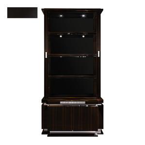 """Шкаф для книг """"Черный лак"""" 116x48x235см"""