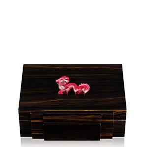 """Шкатулка для украшений """"Эбеновое дерево, красный"""" 30см"""