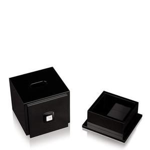 """Коробка для салфеток """"Черный лак"""" 18см"""