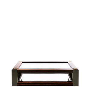 """Журнальный столик """"Эбеновое дерево, зелёный лак"""" 150x65x45см"""