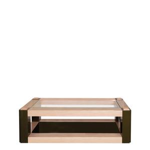 """Журнальный столик """"Натуральное дерево, зелёный лак"""" 150x65x45см"""