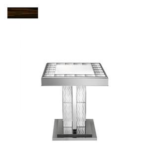 "Пьедестальный стол ""Макассарский эбен"" 75x66x66см"