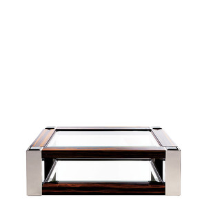 """Журнальный столик """"Эбеновое дерево, полированная сталь"""" 145x95x45см"""