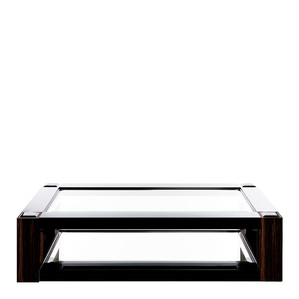 """Журнальный столик """"Черный лак, эбеновое дерево"""" 180x110x45см"""