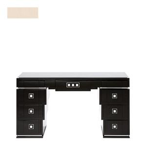 """Письменный стол с ящиками с черной гранитной столешницей """"Пепельная слоновая кость"""" 150x46x81см"""