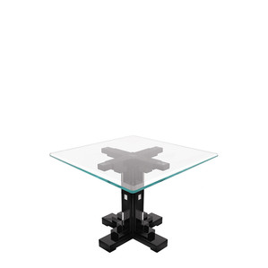 """Обеденный стол квадратный на 6 персон """"Черный лак"""" 140x140x76см"""