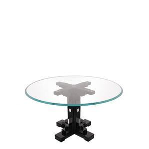 """Обеденный стол круглый на 6 персон """"Черный лак"""" 140x76см"""