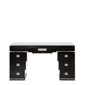"""Письменный стол с ящиками с стеклянной столешницей """"Черный лак"""" 150x46x81см"""