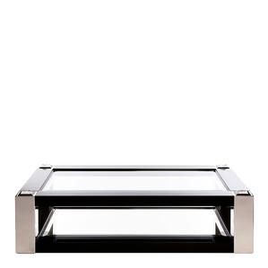 """Журнальный столик """"Черный лак, полированная сталь"""" 180x110x45см"""