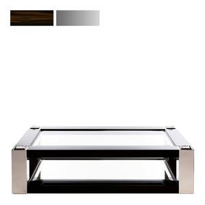"""Журнальный столик """"Эбеновое дерево, полированная сталь"""" 180x110x45см"""