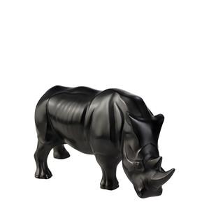 """Статуэтка """"Носорог - черный"""" 16,2см"""