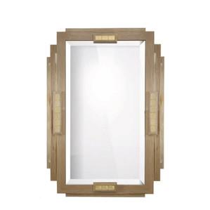 """Зеркало """"Дубовое дерево, золотистая сталь, золотистый хрусталь"""" 95x138см"""