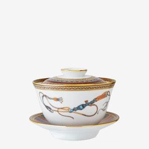 Чашка чайная с блюдцем и крышкой 160мл