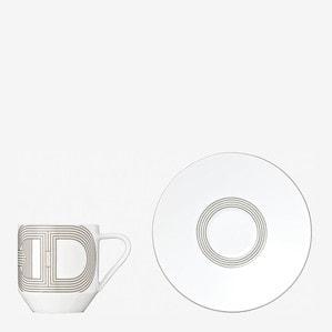 """Чашка кофейная с блюдцем """"Белый"""" 100мл"""