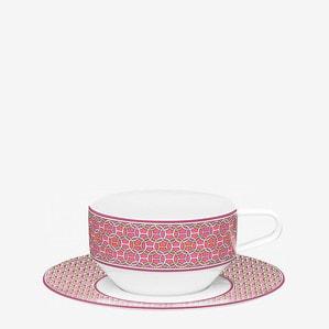 """Чашка чайная с блюдцем """"Фуксовый """" 150мл"""