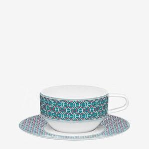 """Чашка чайная с блюдцем """"Мятный"""" 150мл"""