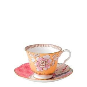 """Чашка чайная с блюдцем """"Жёлтый"""""""