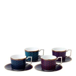 Чашка чайная с блюдцем, 4шт.