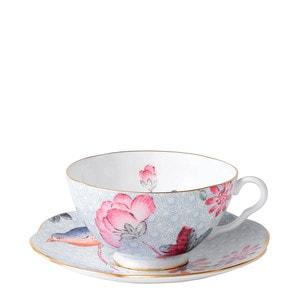 """Чашка чайная с блюдцем """"Синий"""" 180мл"""