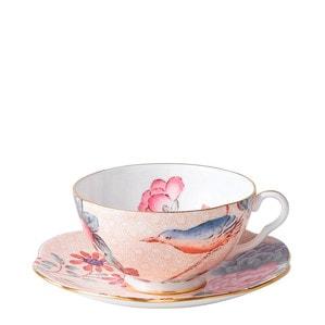 """Чашка чайная с блюдцем """"Персиковый"""" 180мл"""