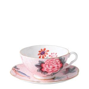 """Чашка чайная с блюдцем """"Розовый"""" 180мл"""
