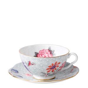 """Чашка чайная с блюдцем """"Зелёный"""" 180мл"""