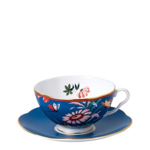"""Чашка чайная с блюдцем """"Синий"""""""