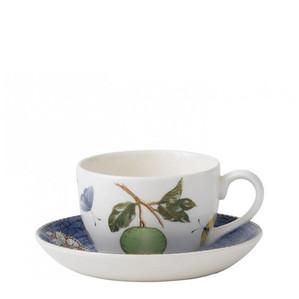 """Чашка чайная с блюдцем """"Синий"""" 150мл"""