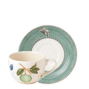 """Чашка чайная с блюдцем """"Зелёный"""" 150мл"""